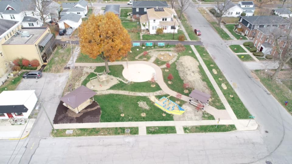 Nature Play Park Aerial Photo